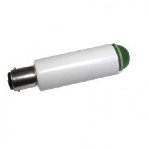 Лампа СКЛ1Б-ЛП-2-220 B15d/18 Зеленая