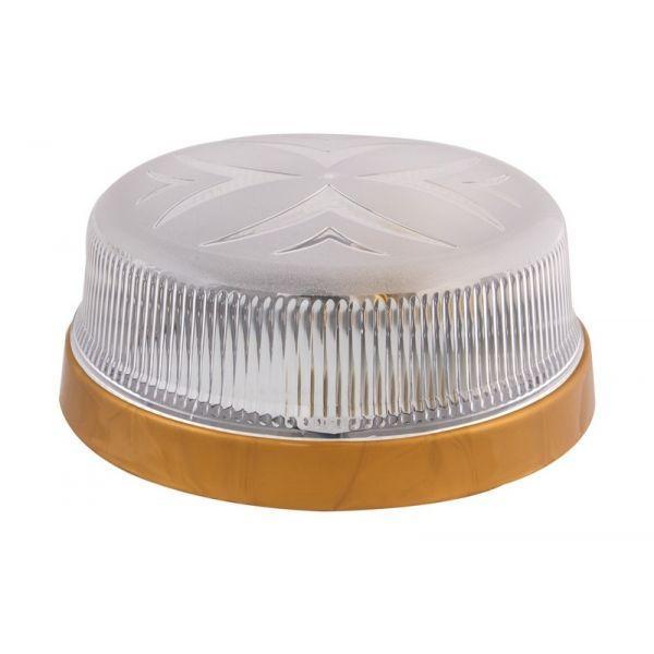 Светильник потолочный ERKA 1102-G прозрачный/золото