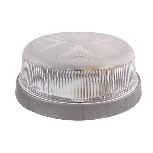 Светильник потолочный ERKA 1102-S прозрачный/серебро