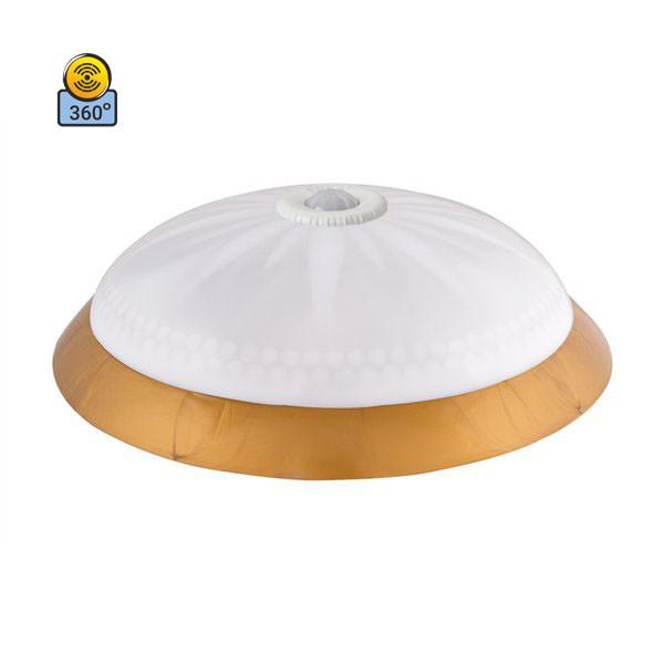Светильник потолочный ERKA 1149D-GB матовый/золото с датчиком движения