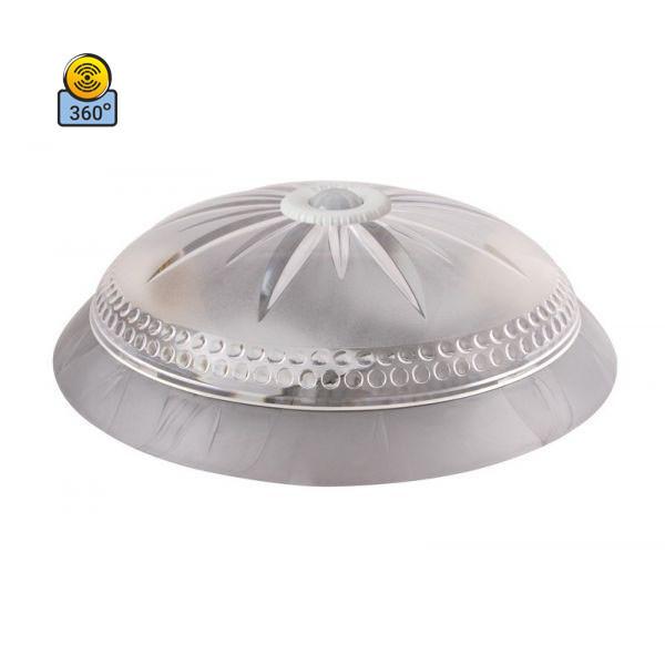 Светильник потолочный ERKA 1149D-S прозрачный/серебро с датчиком движения