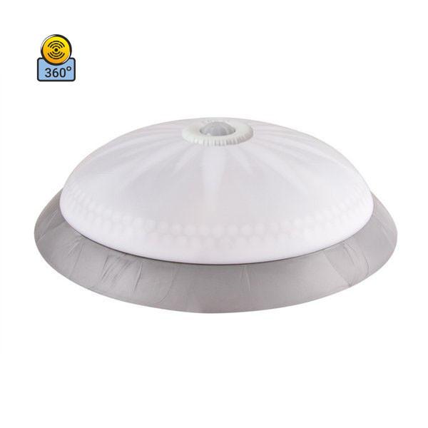 Светильник потолочный ERKA 1149D LED-SB 24W 4200 К матовый/серебро с датчиком движения