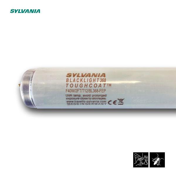 Лампа ультрафиолетовая в ловушки для насекомых Sylvania F40W/2FT/T12/BL368-FEP 600mm G13