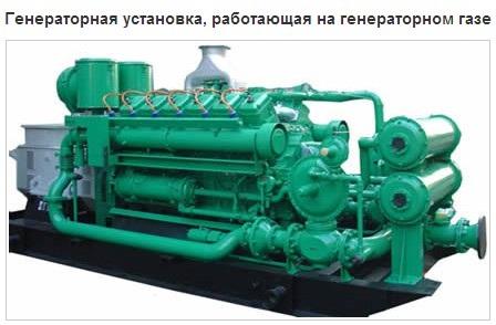 Генераторы газопоршневые на синтез-газе для производства электроэнергии.
