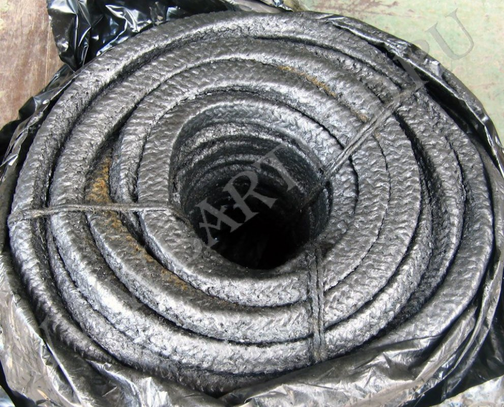 STUFFING of AP-31 (Stuffing stuffing asbestos, wattled, impregnated with fatty antifrictional structure on the basis of oil extracts, graphitized)