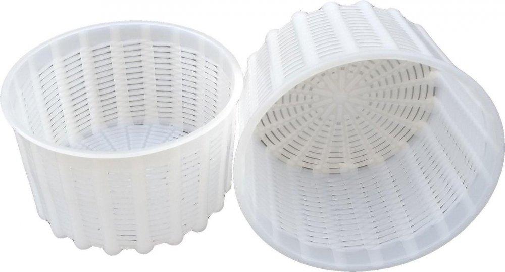 Купить Форма для приготовления мягких сыров на 0,6 литра Ø125 мм пластиковая (ЧП КВВ)