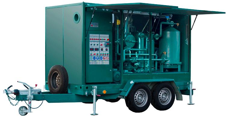 Купить Станция масляная мобильная УВМ 10/15 для очистки от механических примесей и термовакуумной очистки от воды и газов. Дегазация трансформаторных масел