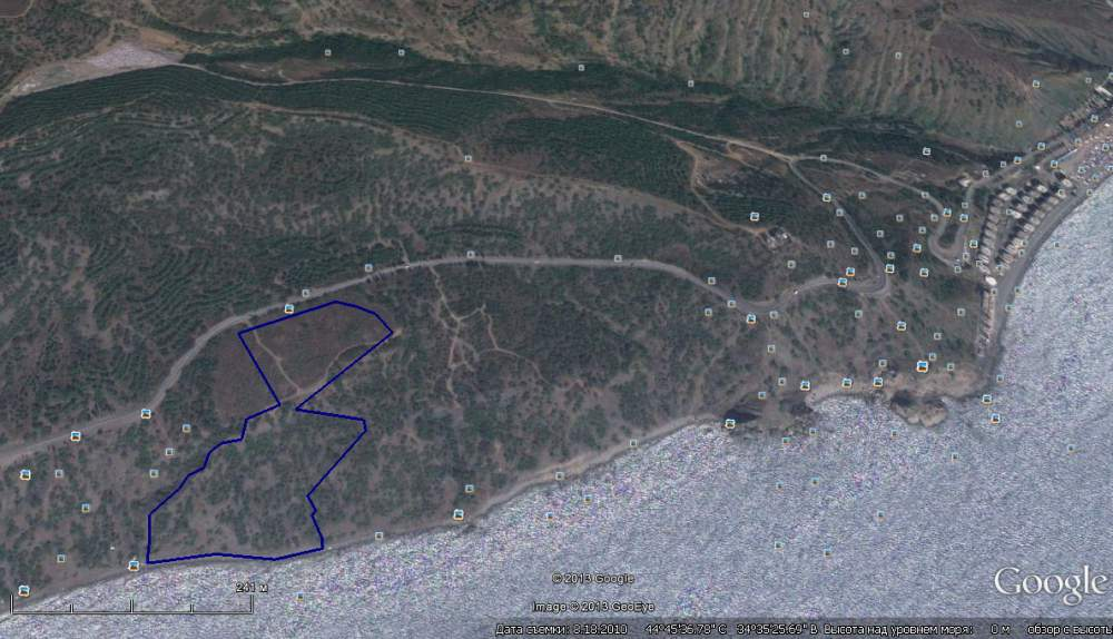 Купить Продается земельный участок в г. Алушта, с. Малореченское ,площадью -4,0000 га, Продается земельный участок, площадью - 4,0000 га для строительства рекреационного комплекса.