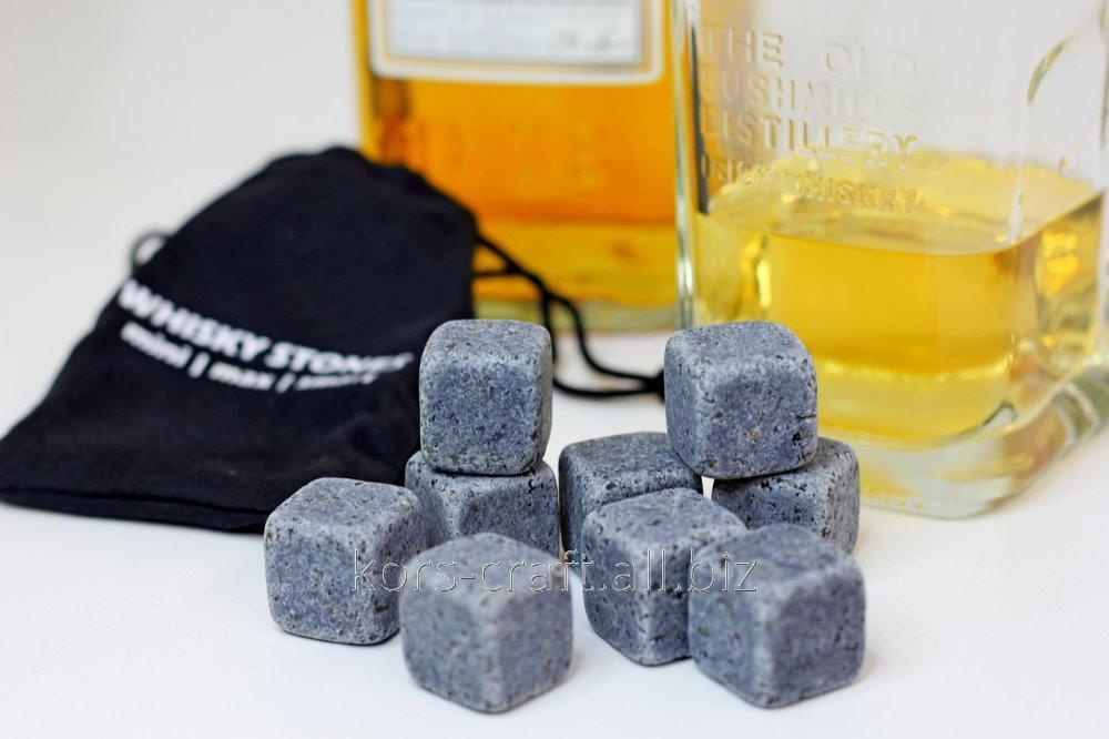 Купить Камни для виски Whiskey Stones в комплекте 9 шт с мешочком для хранения