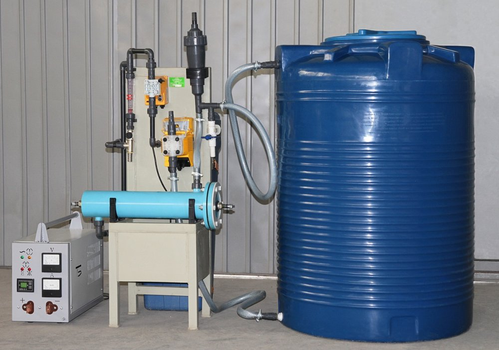 Блочная электролизная установка обеззараживания воды Пламя-2
