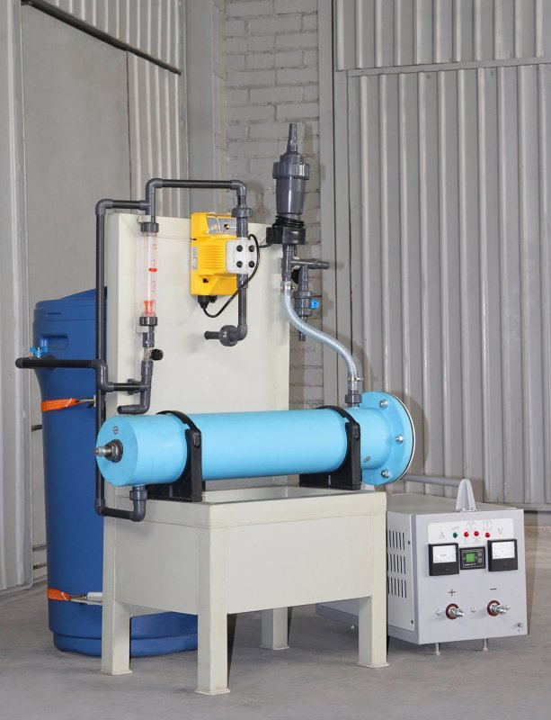 """Buy Modular electrolysis plant disinfection with sodium hypochlorite """"Plamya-2"""" capacity of 5 kg. chlorine per day. For disinfection of drinking water, wastewater, and process water pools, a water chlorination, manufactured BORTEK, Borispol, Ukraine"""