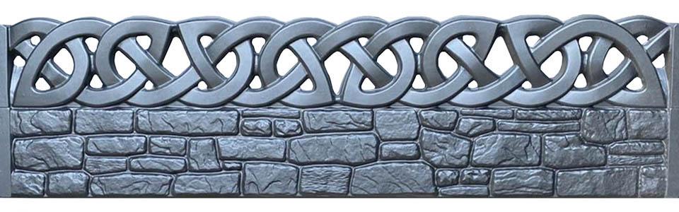 Купить Форма из АБС пластика для производства бетонных заборов № 113