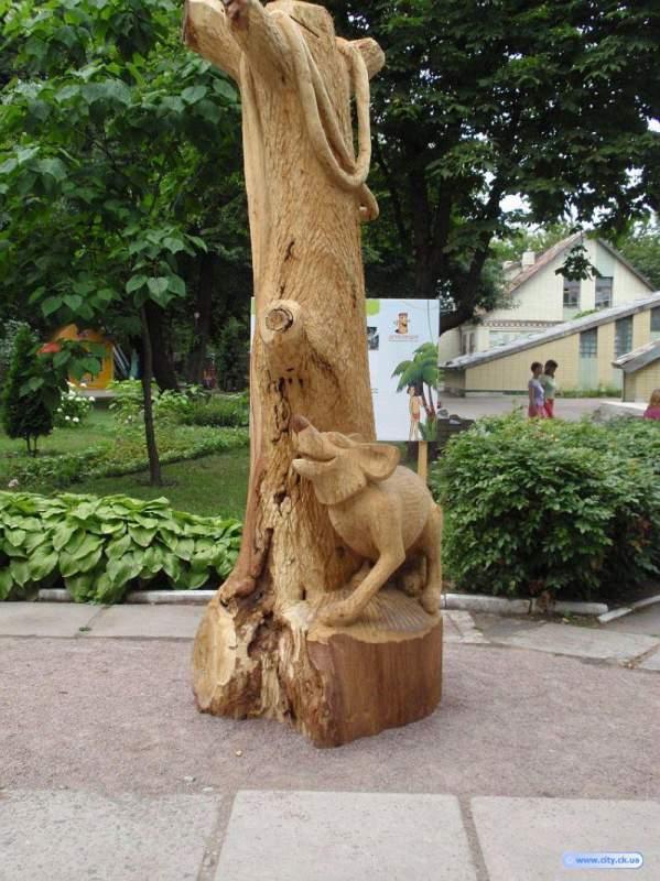 Buy Garden jewelry, wooden garden sculpture