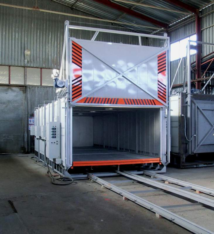 Buy Electric LMS-30.78.17 / 5 I1 ventilyatorami.Pech with high-heat treatment chamber metallovi dr.termicheskih process temperatures up to 500 C, the size of the working space 3000h7800h1700, manufactured BORTEK, Boryspil, Ukraine.