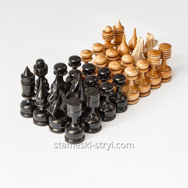 Набор деревянных шахматных фигур ручной работы STRYI, арт. SH-01
