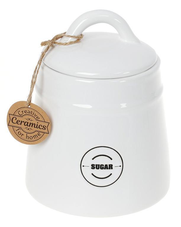 Купить Банка керамическая «Винтаж» Sugar 600мл для сахара