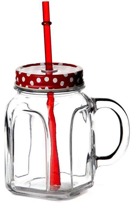 Купить Банка Homemade для смузи и лимонада 450мл стеклянная с жестяной крышкой
