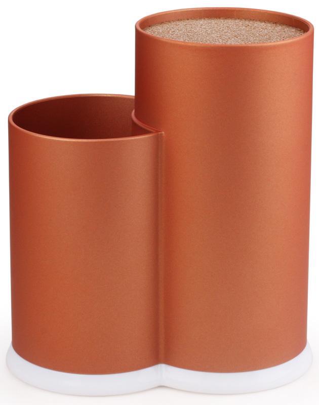 Купить Подставка-колода Fissman Orange для кухонных ножей и ножниц 22х11х17см двойная