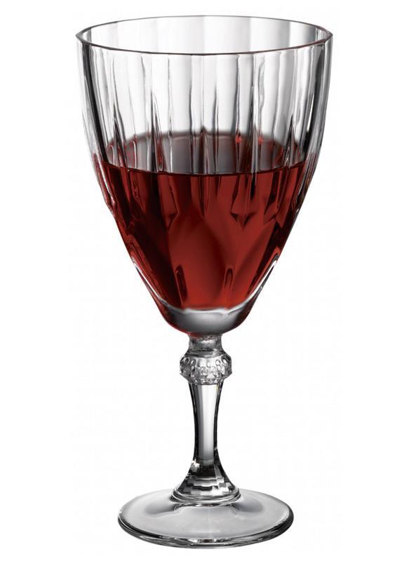 Купить Набор 12 стеклянных фужеров Diamond 245мл для вина