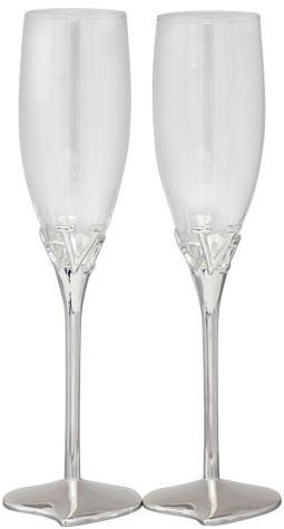 Купить Набор 2 фужера Wedding Love для шампанского 220мл, стекло+металл