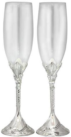 Купить Набор 2 фужера Wedding Amorous для шампанского 220мл, стекло+металл