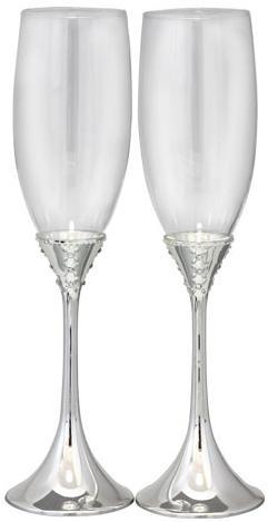 Купить Набор 2 фужера Wedding Grace для шампанского 220мл, стекло+металл