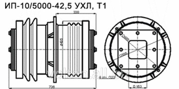 Изоляторы проходные для внутренней установки ИП-10/5000.