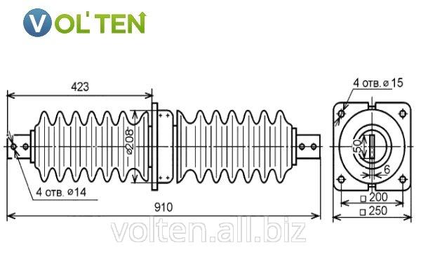 Изоляторы проходные для внутренней установки ИП-35/400, ИП-35/630, ИП-35/1000, ИП-35/1600