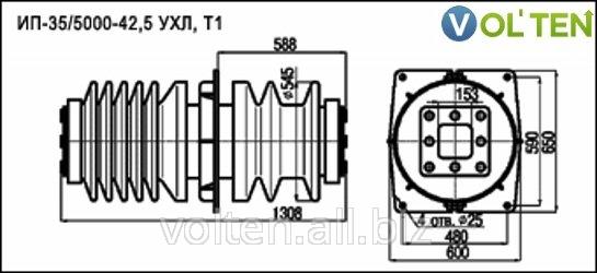 Изоляторы проходные для внутренней установки ИП-35/5000 купить.