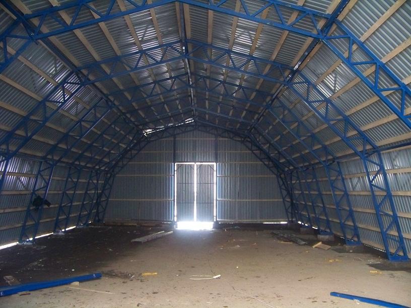 Строительство навесов,складов для готовой продукции.