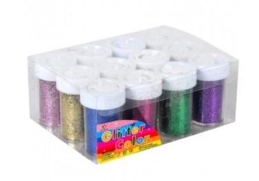 Купить Глиттер декоративные блестки 12x12г 12 цветов, для ногтей нейл-арта
