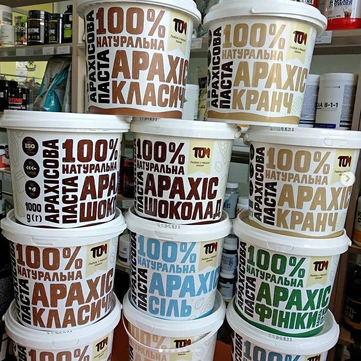 Купить Арахисовая паста ТОМ 500 грамм