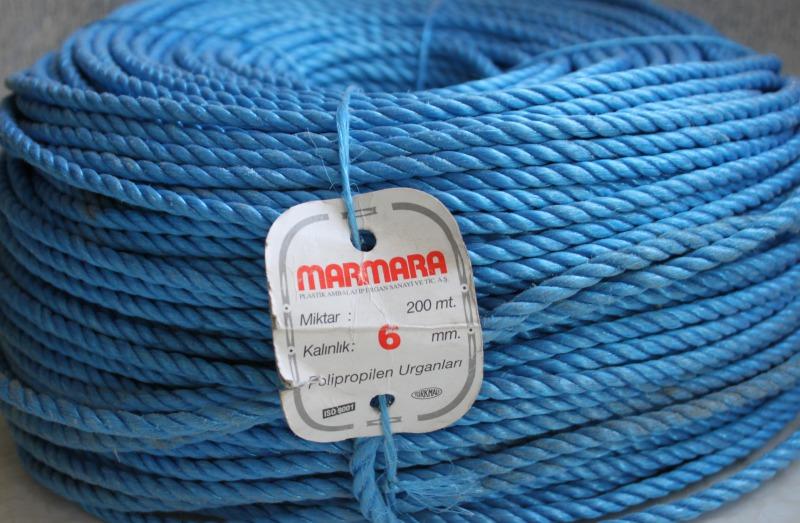 Полипропиленовая веревка крученая Marmara  д.6 мм, длина 200 метров