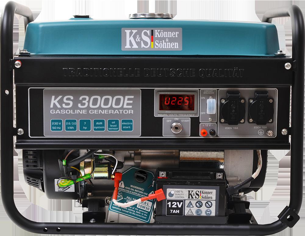 Генератор бензиновый Konner&Sohnen KS 3000E
