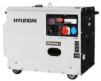 Купить Дизельный генератор Hyundai DHY 8000SE-3