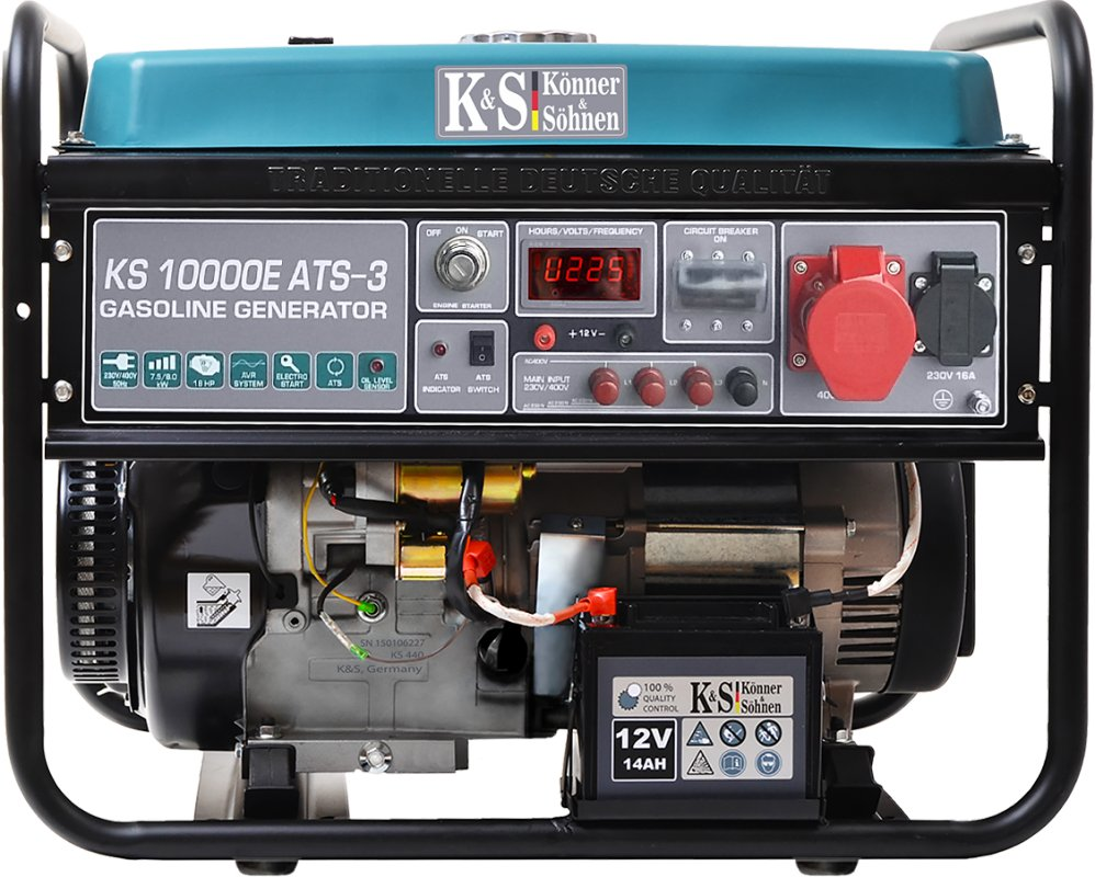 Генератор бензиновый Konner&Sohnen KS 10000E ATS-3