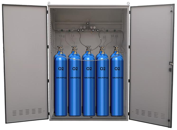 Шкаф для газовых для баллонов, шкаф под заказ на любое количество баллонов