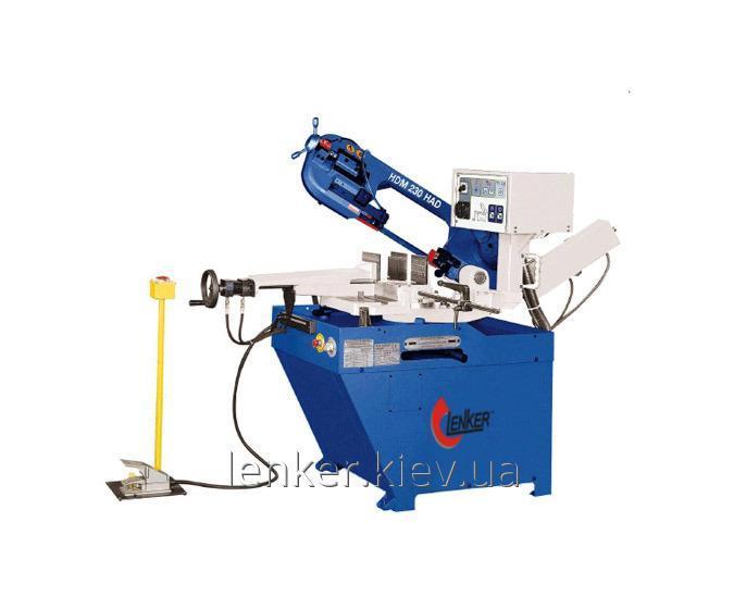 Полуавтоматический ленточнопильный отрезной станок по металлу Lenker 230 HAD (станок для резки металла)