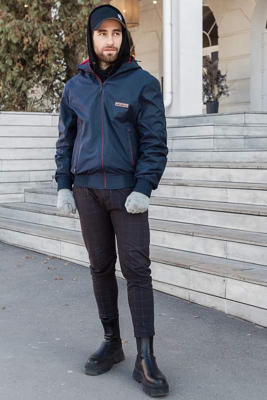 Купить Куртка мужская ветровка темно-синяя, размер 52