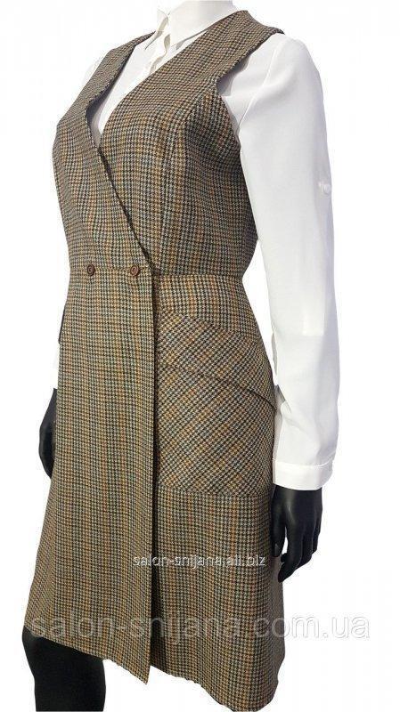 Сукня - жилет із шерсті 7543