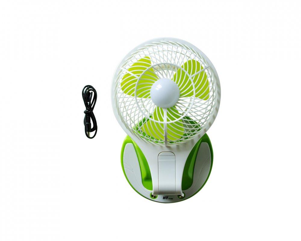 Купить Настольный вентилятор HT 5580 с подсветкой Белый с зеленым