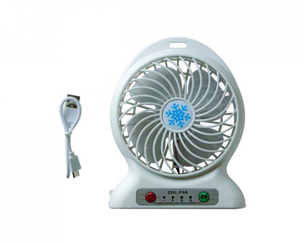 Купить Мини-вентилятор с устойчивой платформой Белый