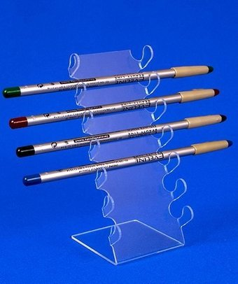 Купить Подставка для косметики Подставка под косметические карандаши на 6 шт, акрил 1.8 мм, габариты (ШхВхГ) 70х170х80 мм (KM-15)
