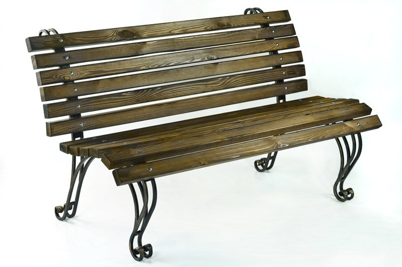 "Кованая садовая скамейка ""Крещатик"" (L = 1500 mm)"