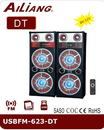 Купить Музыкальный центр, активные колонки AILiANG USBFM-623-DT / 2,0 напольные колонки акустическая система