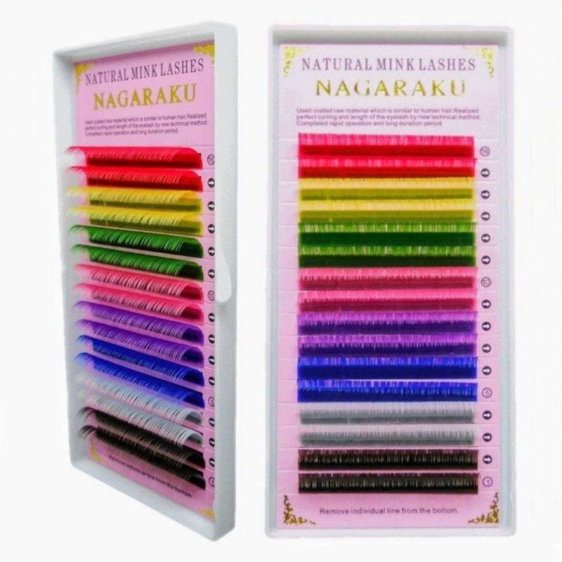 Купить Ресницы цветные Nagaraku