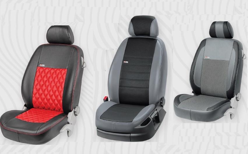 Купить Чехлы автомобильные Honda CR-V с 2007-11 г в экокоже EcoPrestige EcoLaser VipElite