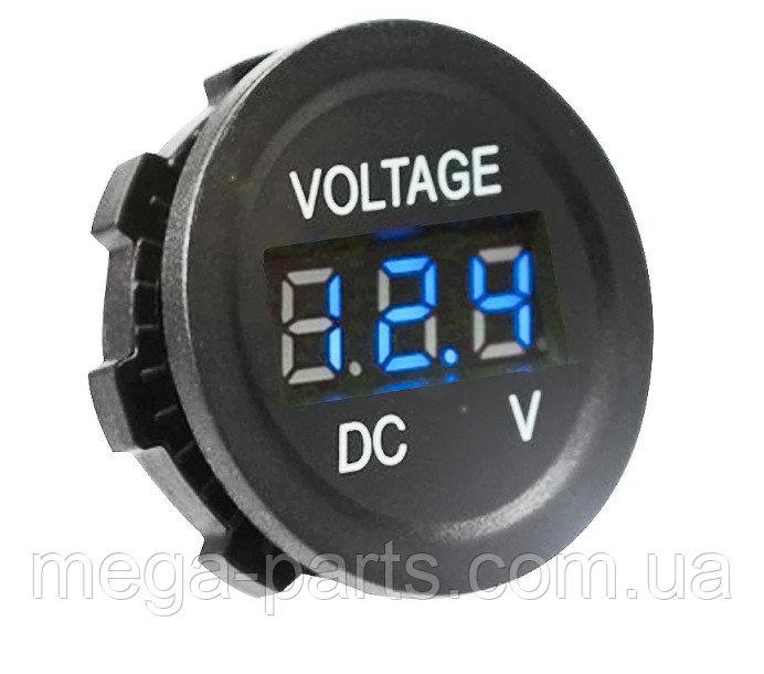 Купить Цифровой водонепроницаемый вольтметр врезной DC6V-30V измеритель напряжения для авто синий