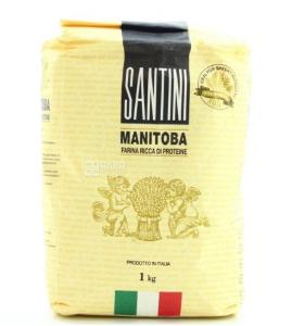 Купить Santini, Manitoba, 1 кг, Мука Сантини, для выпечки, из мягких сортов пшеницы