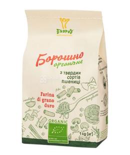 Купить Экород, Мука пшеничная, из твердых сортов, органическая, высший сорт, 1 кг
